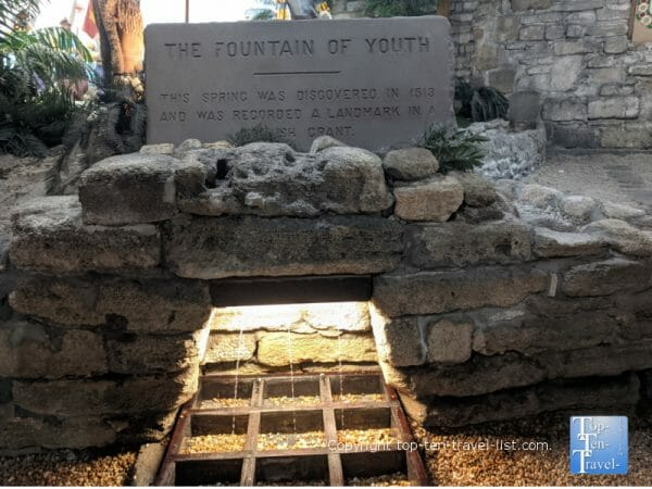 The Fountain of Youth discovered by Ponce de Leon in St. Augustine, Florida