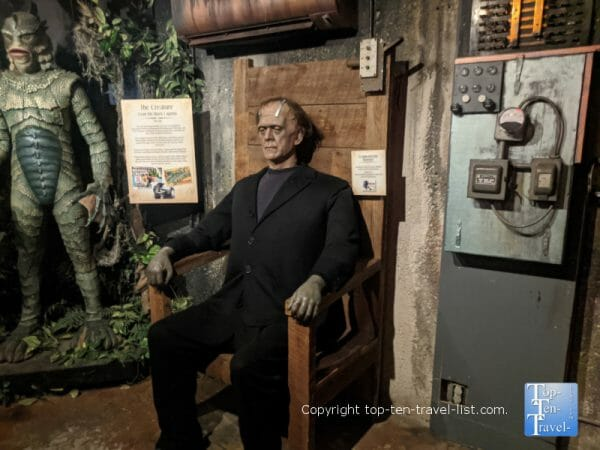 Frankenstein's monster at Potter's Wax Museum in St. Augustine, Florida