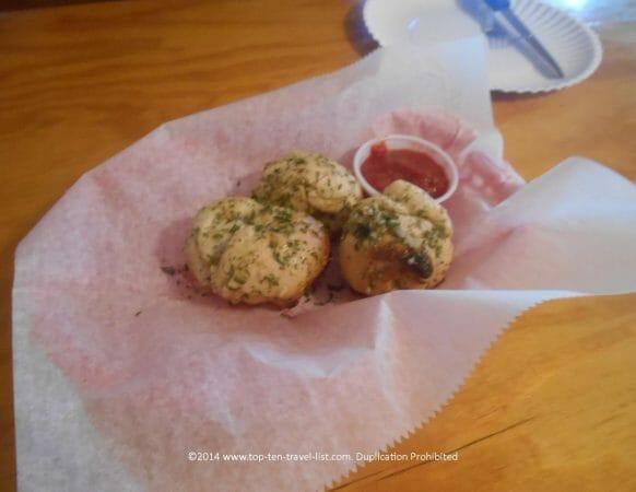 Gluten-free garlic knots at Ozona Pizza in Palm Harbor, Florida