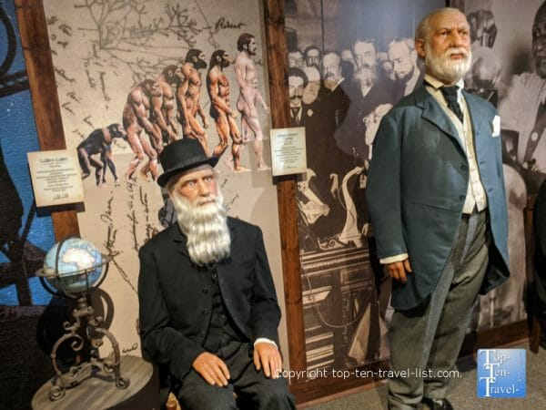Galileo and Darwin at Potter's Wax Museum in St. Augustine, Florida