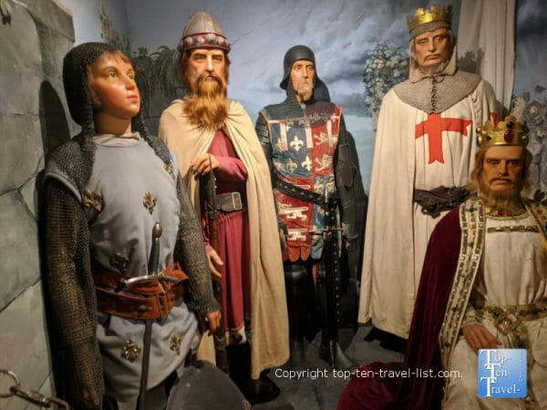 Joan of Ark at Potter's Wax Museum in St. Augustine, Florida