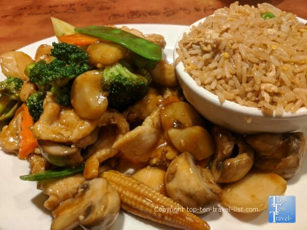 Lunch special at Liang's Chinese bistro in Tampa, Florida