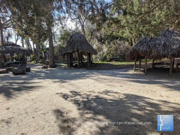 Timucuan Native American village at the Fountain of Youth Park in St. Augustine, Florida