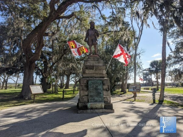 Ponce de Leon statue at the Fountain of Youth Park in St. Augustine, Florida