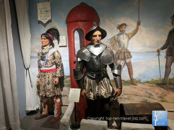 Ponce de Leon at Potter's Wax Museum in St. Augustine, Florida