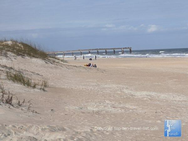 Quiet day on St. Augustine Beach in Florida