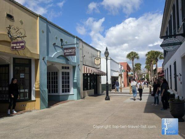 Historic St. George street in St. Augustine, Florida