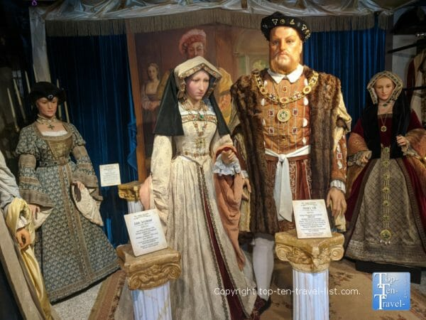 Tudor Dynasty wax figures at Potter's Wax Museum in St. Augustine, Florida
