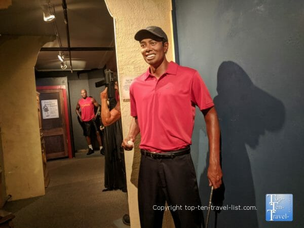 Tiger Woods at Potter's Wax Museum in St. Augustine, Florida