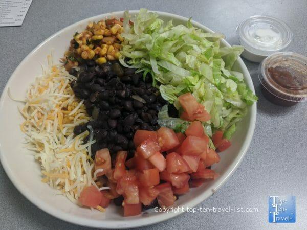 Veggie bowl at Barracuda Deli Cafe in St. Pete Beach, Florida