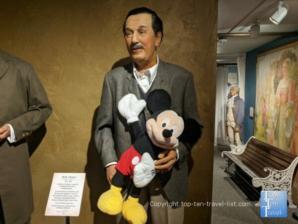 Walt Disney at Potter's Wax Museum in St. Augustine, Florida