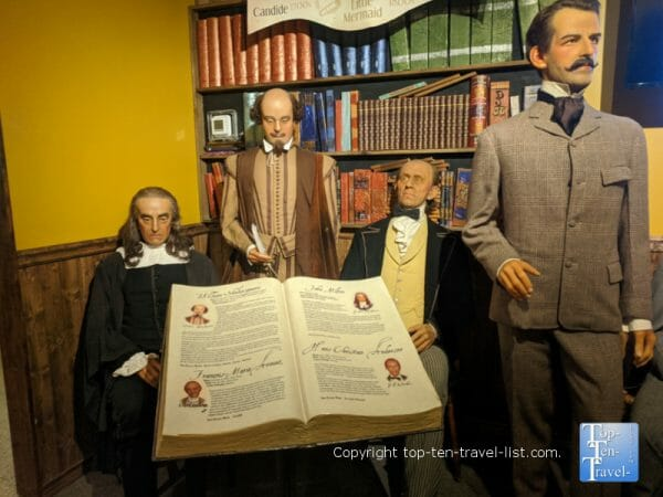 William Shakespeare at Potter's Wax Museum in St. Augustine, Florida