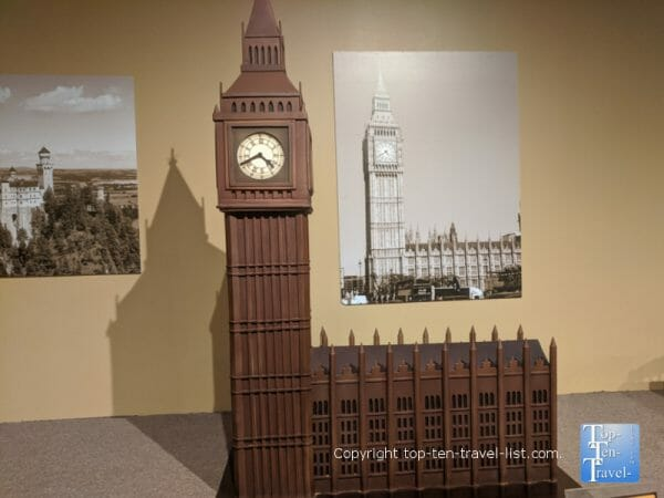 Big Ben sculpture at the World of Chocolate in Orlando, Florida