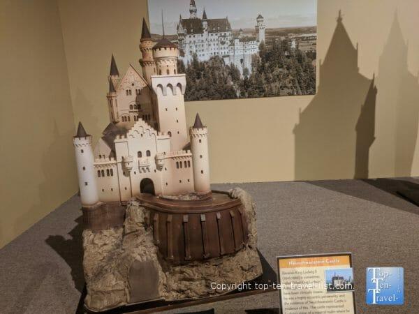 Neuschwanstein Castle sculpture at the World of Chocolate in Orlando, Florida
