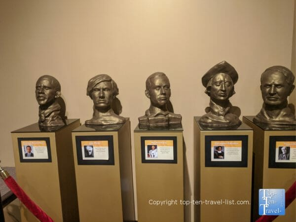 Bust of Obama at the World of Chocolate in Orlando, Florida