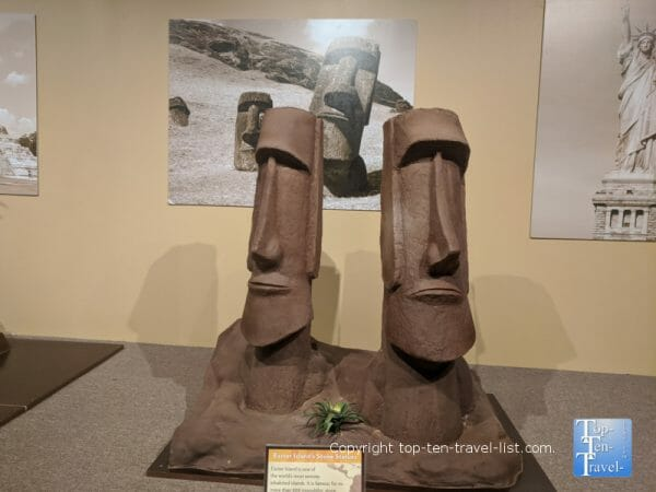 Easter Island stones sculpture at the World of Chocolate in Orlando, Florida