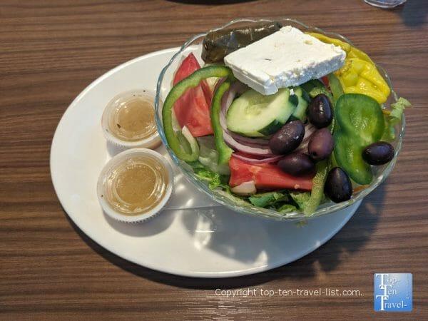 Greek salad at Skidder's in St. Pete Beach, Florida