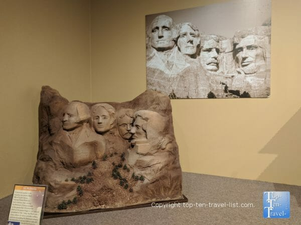 Mt. Rushmore sculpture at the World of Chocolate in Orlando, Florida