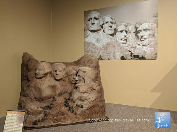 Mt. Rushmore chocolate sculpture at the World of Chocolate in Orlando, Florida