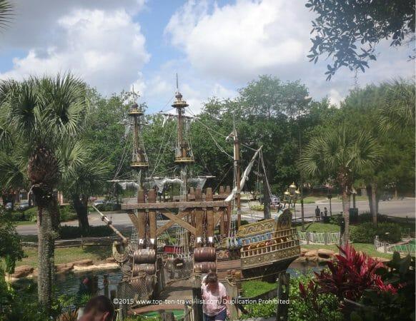 Pirate's Cove mini golf course in Orlando, Florida