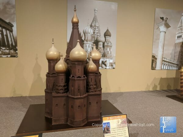 St. Basil's Cathedral sculpture at the World of Chocolate in Orlando, Florida