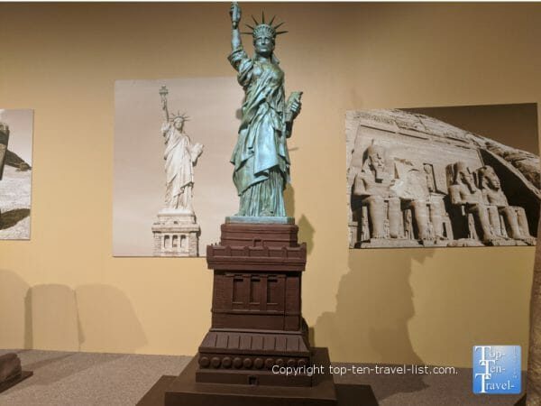 Statue of Liberty at the World of Chocolate in Orlando, Florida