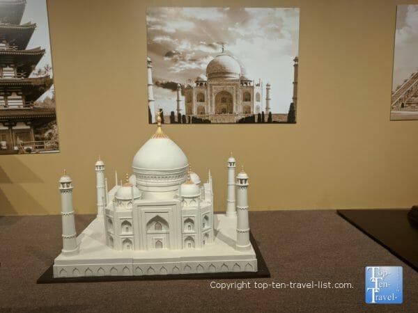 The Taj Mahal sculpture at the World of Chocolate in Orlando, Florida