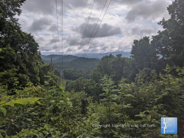 Mountain views at Collier Cove Nature Preserve in Arden, North Carolina