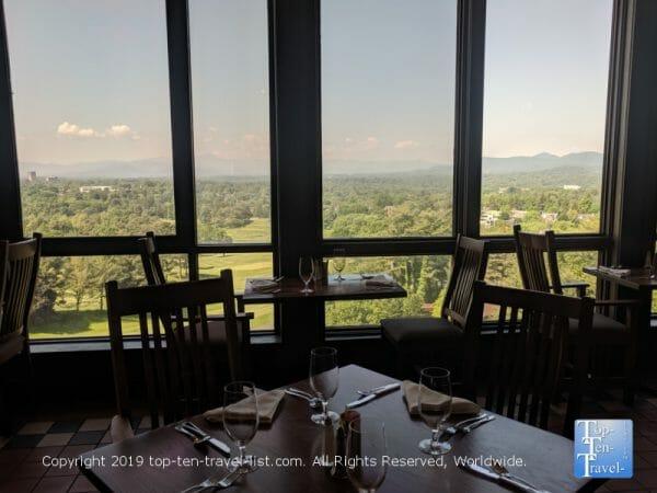 Scenic vista at the Blue Ridge Artisanal breakfast buffet at the Omni Park Grove Inn in Asheville, North Carolina