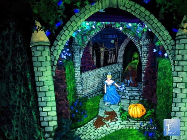 Fairyland Caverns Cinderella scene at Rock City in Lookout Mountain, GA