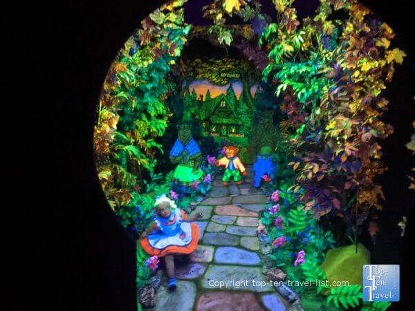 Goldilocks at Fairyland Caverns at Rock City in Lookout Mountain, GA
