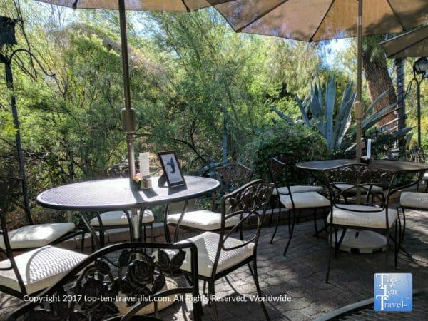 Outdoor dining at Tohono Chul Gardens in Tucson, Arizona