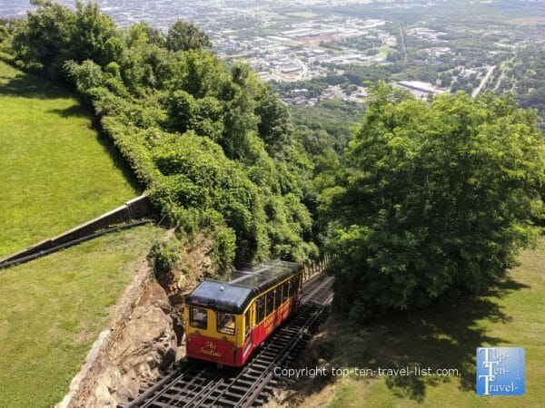Steepest incline railway ride in the world at Lookout Mountain in Chattanooga, TN