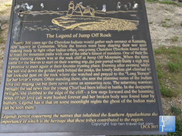 History of Jump Off Rock in Western North Carolina