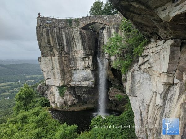 High Falls at Lover's Leap at Rock City in Lookout Mountain, GA
