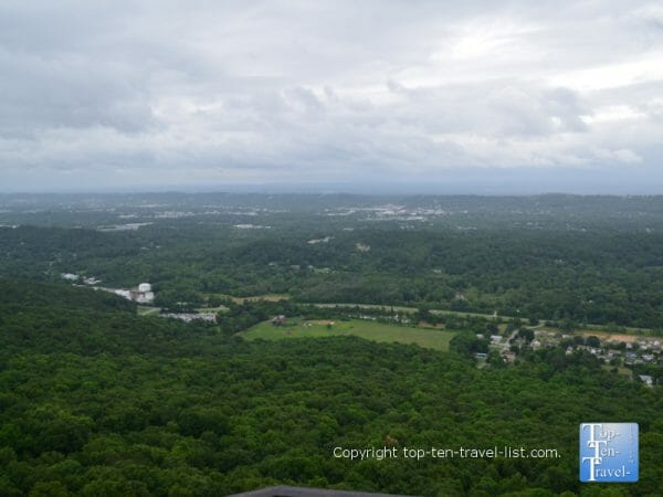 Seven states overlook at Rock City atop Lookout Mountain in northwest Georgia