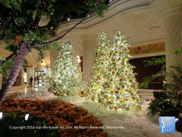 Beautiful Christmas display at the Wynn Gardens in Las Vegas