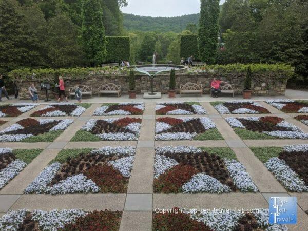 Quilt Garden at the North Carolina Arboretum in Asheville, North Carolina