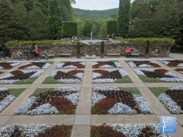 The Quilt Garden at the North Carolina Arboretum in Asheville, North Carolina
