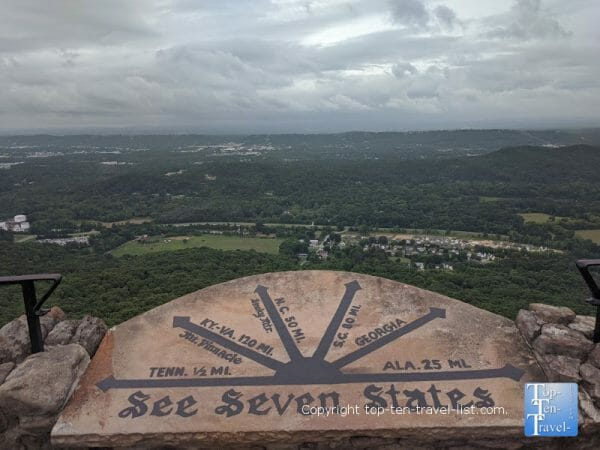 View of 7 states from Lookout Mountain at Rock City