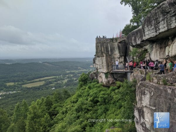 View of Lover's Leap at Rock City atop Lookout Mountain in northwest Georgia