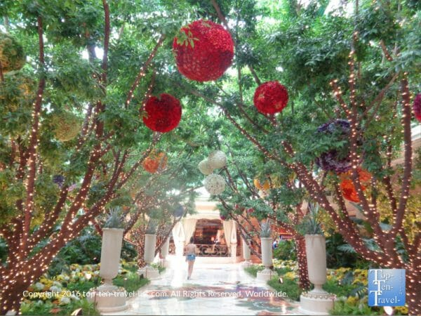 The beautiful gardens at The Wynn resort in Las Vegas, NV