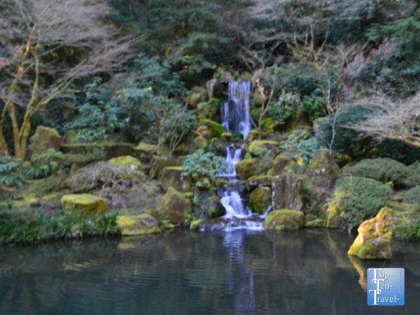 Waterfall at the Portland Japanese Garden