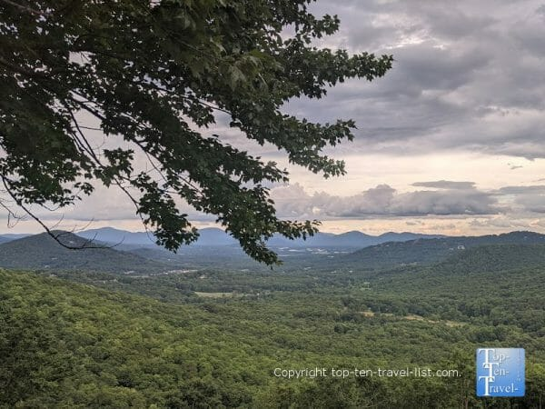 The gorgeous Chestnut Cove overlook along the Blue Ridge Parkway in Western North Carolina