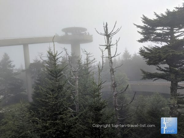 Clingman's Dome - the highest point in the Smoky Mountains