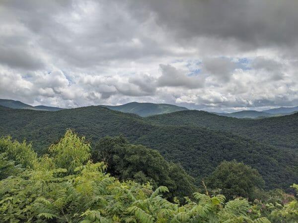 Craggy Gardens overlook along the Blue Ridge Parkway in North Carolina