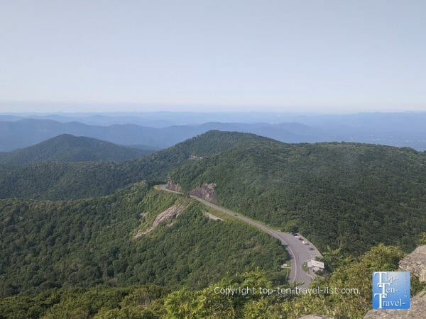 Gorgeous overlook via the Craggy Pinnacle trail along the Blue Ridge Parkway in North Carolina