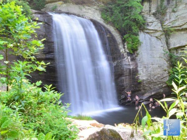 Looking Glass Falls in Western North Carolina