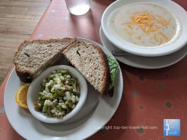 Lunch at the Veranda Cafe in downtown Black Mountain, North Carolina