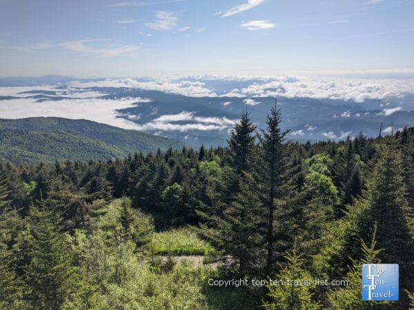 Gorgeous mountain scenery at Mt. Mitchell State Park in Western North Carolina